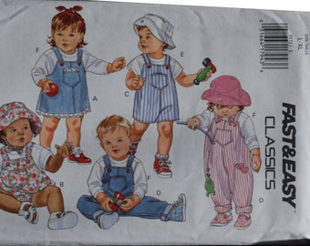 Butterick 3172 Infants Jumper and Jumpsuit  L-XL - FREE SHIPPING