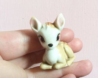 WADE Whimsies Hatbox Bambi Deer- First Issue 1950s Collectible Whimsy