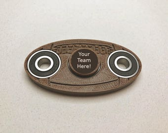 Football Fidget Spinner - 3D printed toy - Personalize for your team!