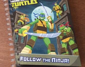 Teenage Mutant Ninja Turtles Follow the Ninja! Little Golden Book Recycled Journal Notebook