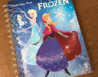 Just the Covers // Frozen Little Golden Book Recycled Notebook