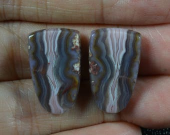 Purple Passion Agate Cabochon Pair
