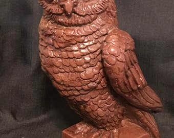 Owl Mid Century Large Statue Sculpture Austin Products Inc 1961, Owls