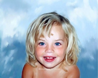 Custom Art - Personalized Kids Portrait on Canvas from Photo - Ultimate Gift