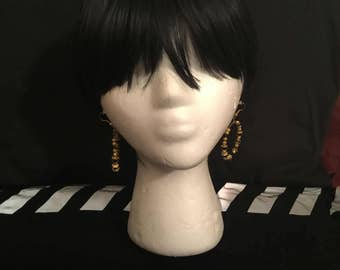 Beautiful black and gold hoops