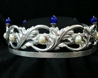 SCA Renaissance Medieval Baronial Coronet Crown Also perfect for Weddings with a Veil, Fantasy, LARP, and Mermaid Cosplay