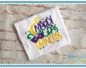 INSTANT DOWNLOAD 3779 Mardi Gras Princess embroidery design in digital format for embroidery machine by Applique Corner