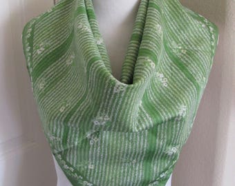 "Scarf Green Retro Poly  Scarf 27"" Inch 64cm Square - Affordable Scarves!!!"