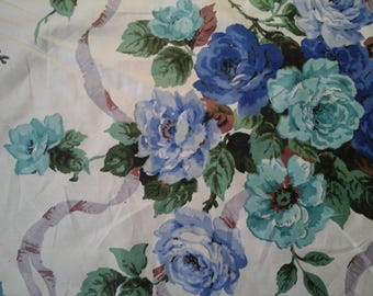 Vintage roses and ribbon fabric