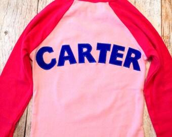Custom girls birthday shirt Personalized Add NAME -Monogram, Nickname, Initials, letters Baseball Shirt top 100 boys girls baby names party