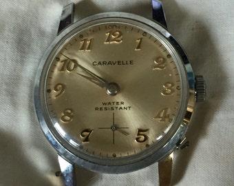 Retro Caravelle Watch by Bulova Vintage Unisex Wristwatch Water Resistant WORKING!