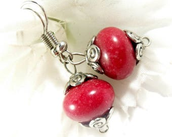Ruby Gemstone Earrings, Ruby Red Earrings, Ruby Earrings, Trending Womens Jewelry, Simple Elegant Earrings, July Birthstone Earrings