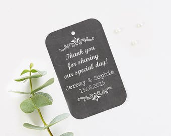 Chalkboard favour tag