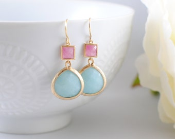 The Chantal Earrings - Aqua