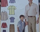 Free shipping! Simplicity 4760 Mens and boys shirt and pants sewing pattern All sizes UNCUT