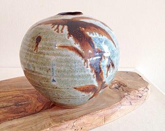 Vintage Zen Aesthetic Studio Pottery Vase