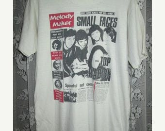 35% OFF Vintage 1980s SMALL FACES Melody Maker Magazine T-shirt Promo