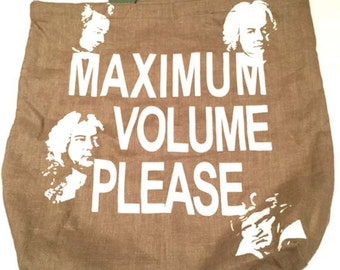 MAXIMUM VOLUME PLEASE eco bag