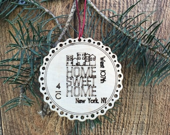 Our First Apartment Ornament First Apartment Christmas Ornament New Apartment Gift New Apartment Housewarming Gift Modern Christmas