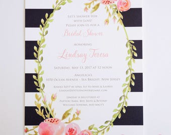 GENERAL PARTY INVITATIONS  - Floral Bordered Themes