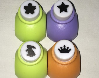 A Set of a Mini Paper Punch (Pick 1):  Sakura Blossom, Star, Bunny, OR Crown
