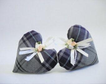 Tartan lavender heart, lavender bag gift - Scottish tartan hearts - Scottish gift - Scottish lavender