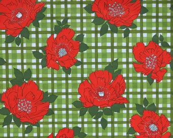 Vintage Gibson FLORAL Gift Wrap Ensemble - Wrapping Paper with Matching Card - FOR YOU - 1970s