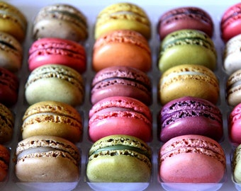 French Macaroon (Case of 24); Dessert Favors; Wedding Favors; Bridal Shower Favors, Edible Favors