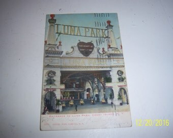 1905 Entrance to Luna ParkTheme Park Coney Island NY Postcard