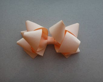 Peach Triple Loop Hair Clip