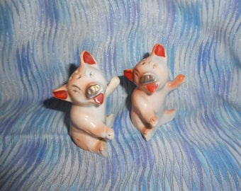 Little Piggy Salt and Pepper Vintage Shakers