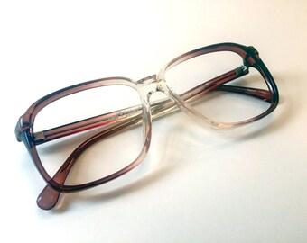 Vintage SERGIO VALENTE 1980s Deadstock Eyeglasses Frames Unisex Smokey Brown Glasses