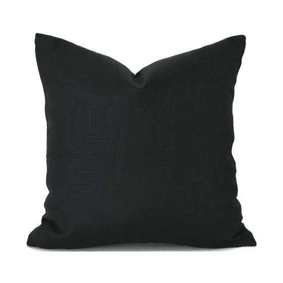 Black Pillow Covers ANY SIZE Decorative Pillows Pillow Inserts