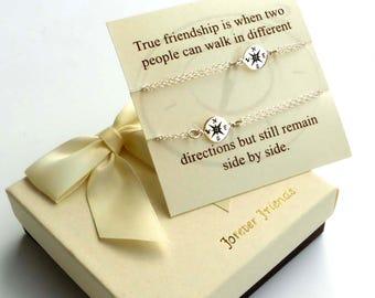 Compass bracelet, best friends, sister bracelet. Journey bracelet. Friendship bracelet. 2 compass bracelets. Best friend., gift for her
