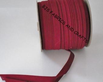 Pillow Case Dress Supplies Burgundy Bias Tape 12 Yards