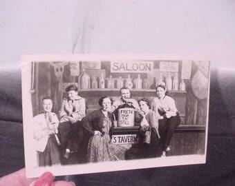 1955 Photo Postcard 5 Ladies & 1 Man Riverview Park Chicago