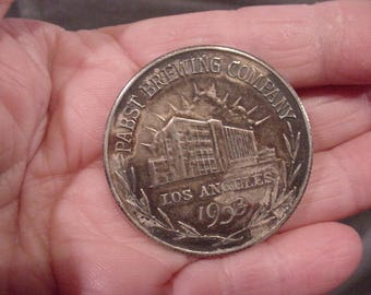 Coin Token 1953  Pabst Brewing Co. Los Angeles  PABST BLUE RIBBON Beer