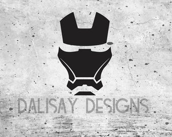 Iron Man Helmet Vinyl Decal