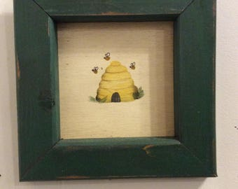 Small framed Honey Bee Painting