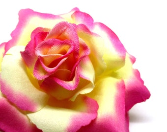 """3.75"""" Milk Pink Silk Rose Heads (Pack of 4) - Fabric - Artificial Flower, Wholesale Lot, Wedding Decoration"""