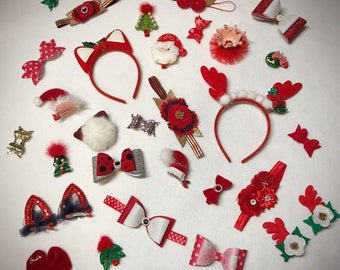 12 days of Christmas hair accessories