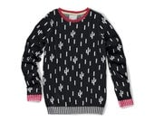 Black Cacti Sweater