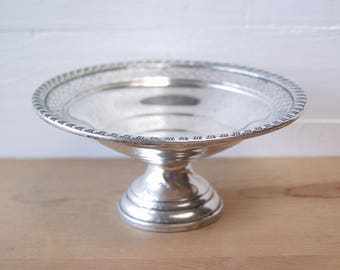Sterling Silver Compote. Gruen Footed Silver Candy Dish.  Sterling Silver Pedestal Nut Dish. Vintage.