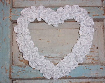 Shabby Chic Rose Heart Furniture Applique * HUGE *   / Wall Decor  OVER 120 NEW Designs for 2017
