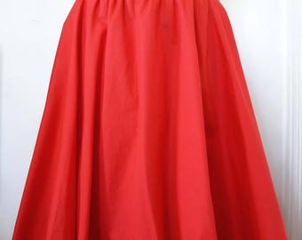 the Red Corolla with elasticated waist skirt