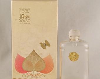 DECO Vintage 1920s LORIGAN de COTY French Crystal Eau de Toilette Perfume Bottle & Original Box Nouveau Edwardian Downton Gatsby Flapper Era