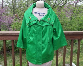 Vintage REQ Cool Green Jacket 1980s