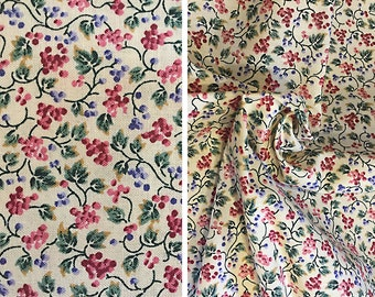 "Destash fabric sale   1 yard vintage calico floral print Cranston ""VIP"" cotton fabric"
