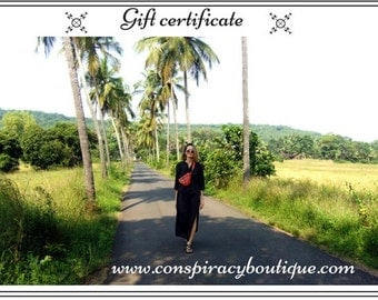 Gift Certificate /  Gift For Her / Christmas Gift / Gift For Wife / Gift Idea / Gift Card / Email Gift / Printable Gift / Love Vouchers