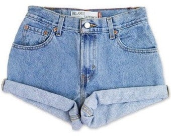 Denim Shorts, Cuffed shorts, rolled, high waisted, mid waisted, All Sizes, High Rise Plus Size, rolled levis, wrangler, guess